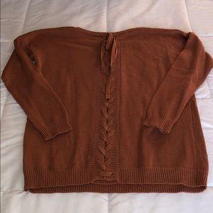 Sweaters - Oversized Sweater, Tie Back - Size Medium